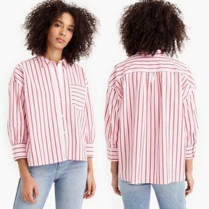 J. CREW | Striped Oversized Button Down Shirt